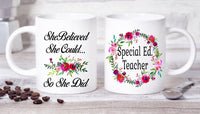 Special Education Teacher Mug Special Education Mug Special Ed Teacher Gifts Graduation Mug College Graduation Mug Mug Gift  Teacher Gifts