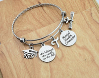 Mental Health Counselor Gift Personalized Graduation Gift Custom Bracelet Women Best Gifts Mental Health Therapist 2019 College Graduation