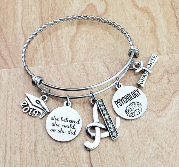 Psychology Graduation Gift Psychology Gifts Psychology Graduation Psychology Jewelry Psychology Bracelet College Graduation Gift Senior 2019