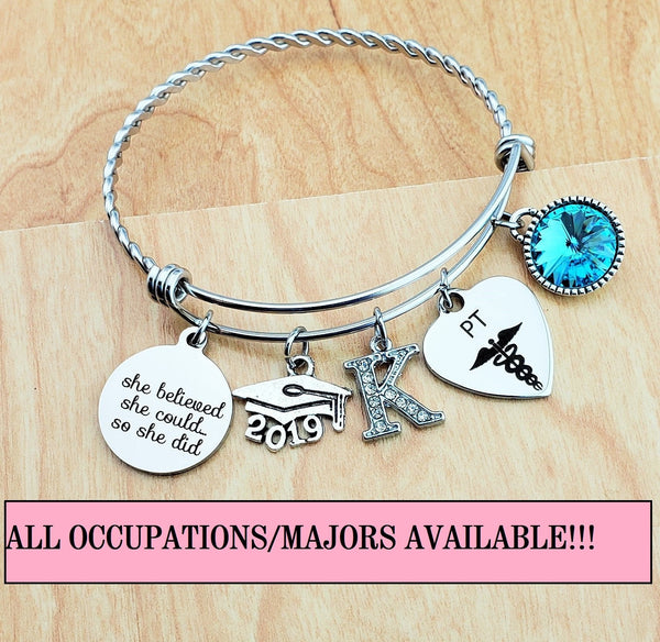 Physical Therapist Graduation Gift PT Gifts Graduation Gift for Roommate Graduation Gift for Daughter Best Friend Bracelet Bestfriend Gift