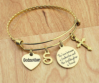 Gold Godmother Bracelet Godmother Gift Godmother Proposal Bracelet for Godparents Godparent Gift Baptism Godmother Keepsake Baptism Proposal