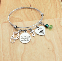 NP Graduation Gift Nurse Practitioner Gifts Personalized Graduation Gift Inspirational Jewelry 2019 Graduation Bracelet University Gift