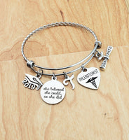 Phlebotomist Graduation Gift Phlebotomist Gifts Medical Graduation Gift Phlebotomy Jewelry Bangle Charm Bracelet Personalized Bracelet 2019