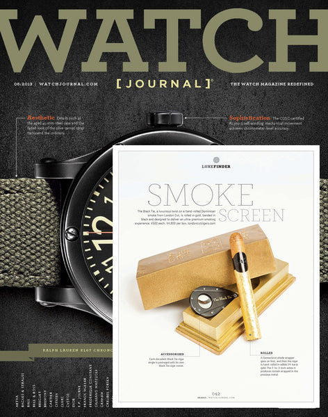 The Black Tie in Watch Journal