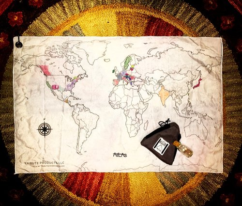 ATLAS TRAVEL MAP: A CANVAS THAT TELLS THE WHOLE STORY....