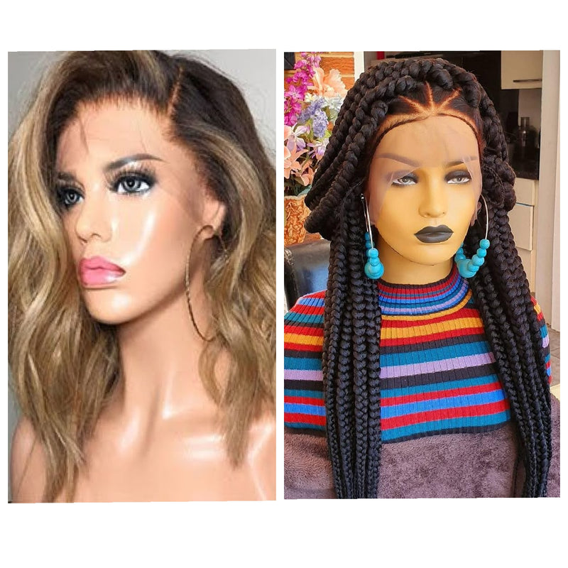 DIFFERENCE BETWEEN BRAIDED WIGS AND 100% HUMAN HAIRS NORMAL WIGS | braided wig | wigs | wigs for sale | african american wigs |