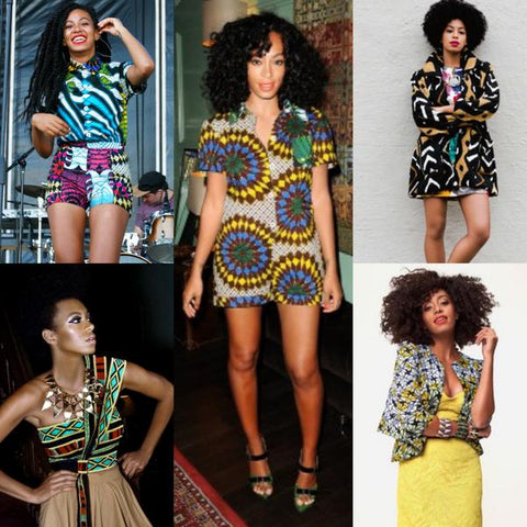SOLANGE KNOWLES wearing african fashion dress | african dresses | african print dress |