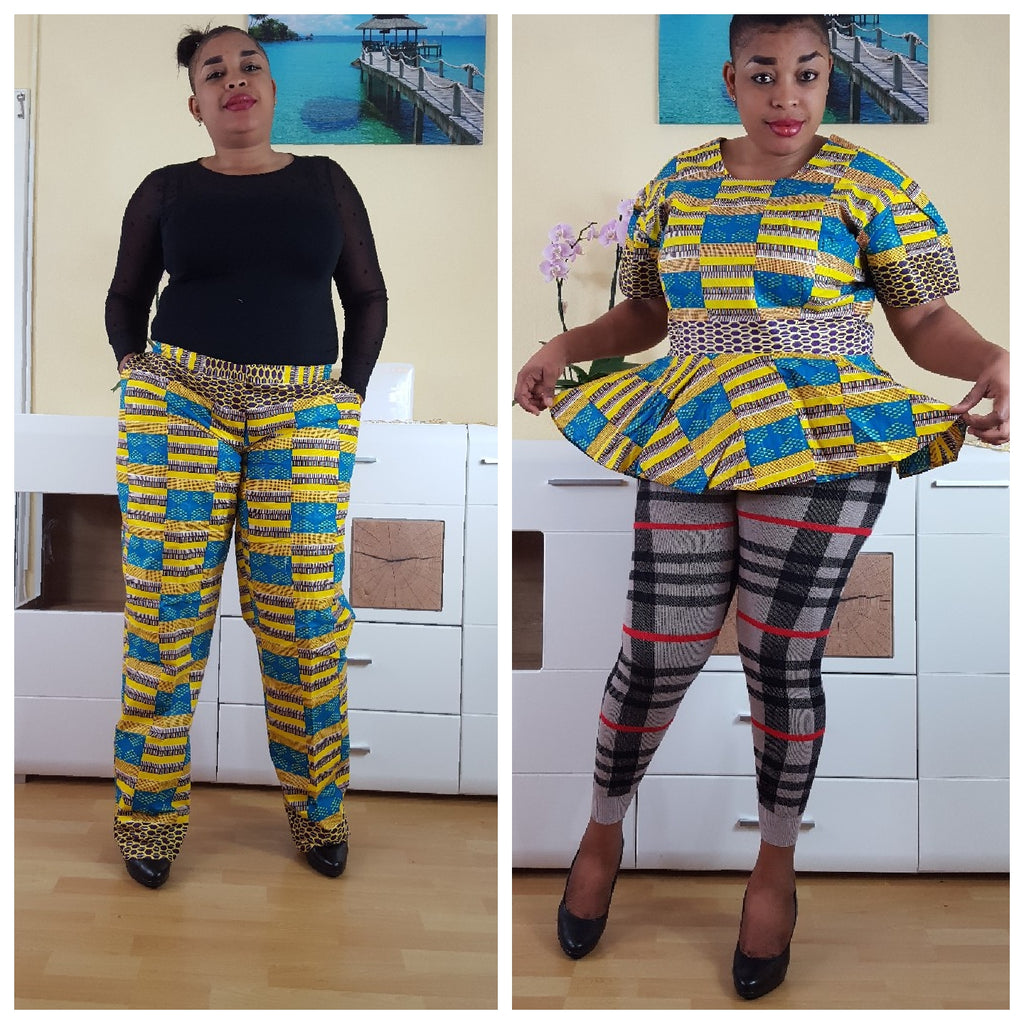 african  Pakoo  print top, african top, dashiki top, african dress - yalinat