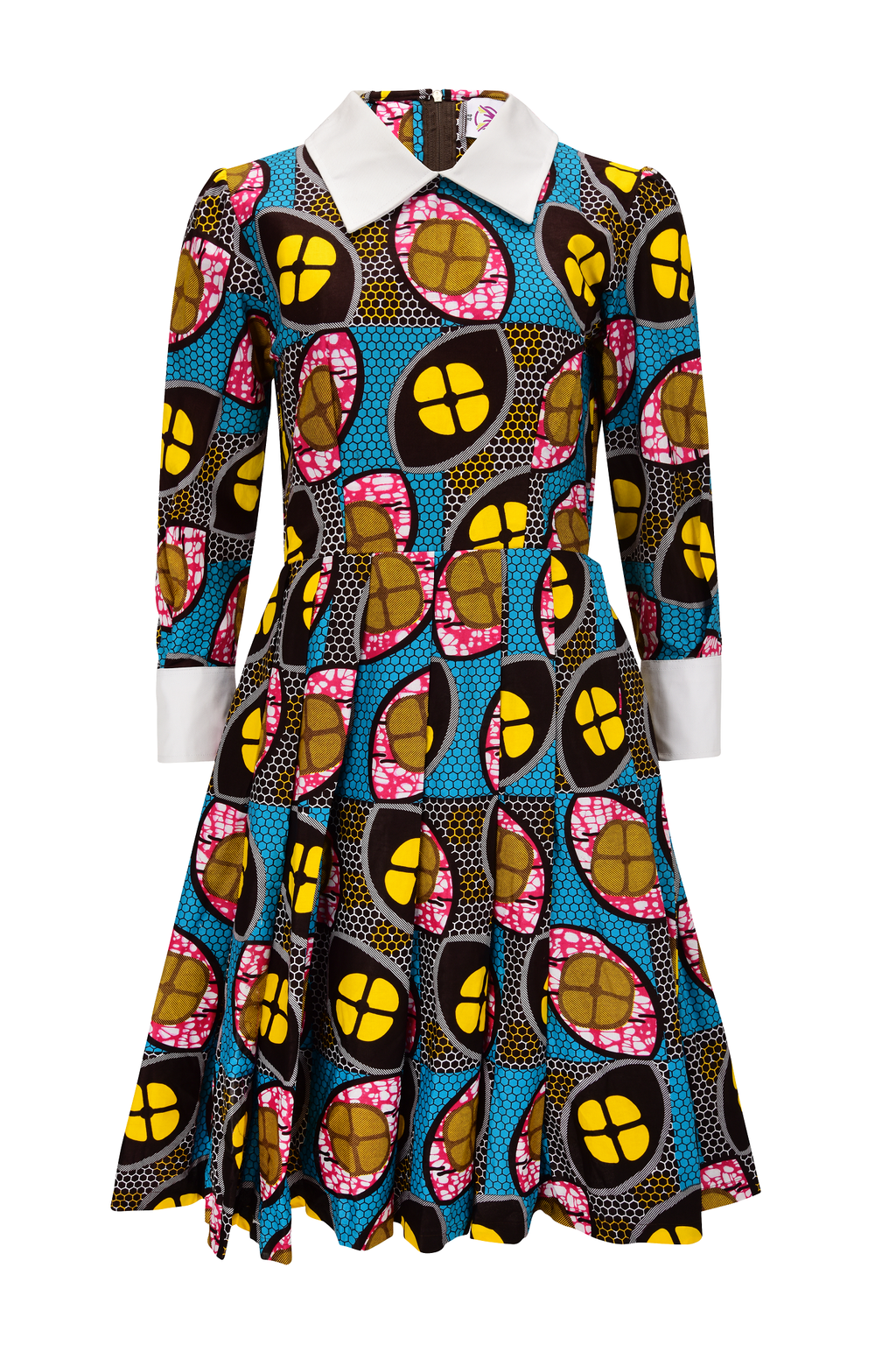 african print NOUNUC midi dress.