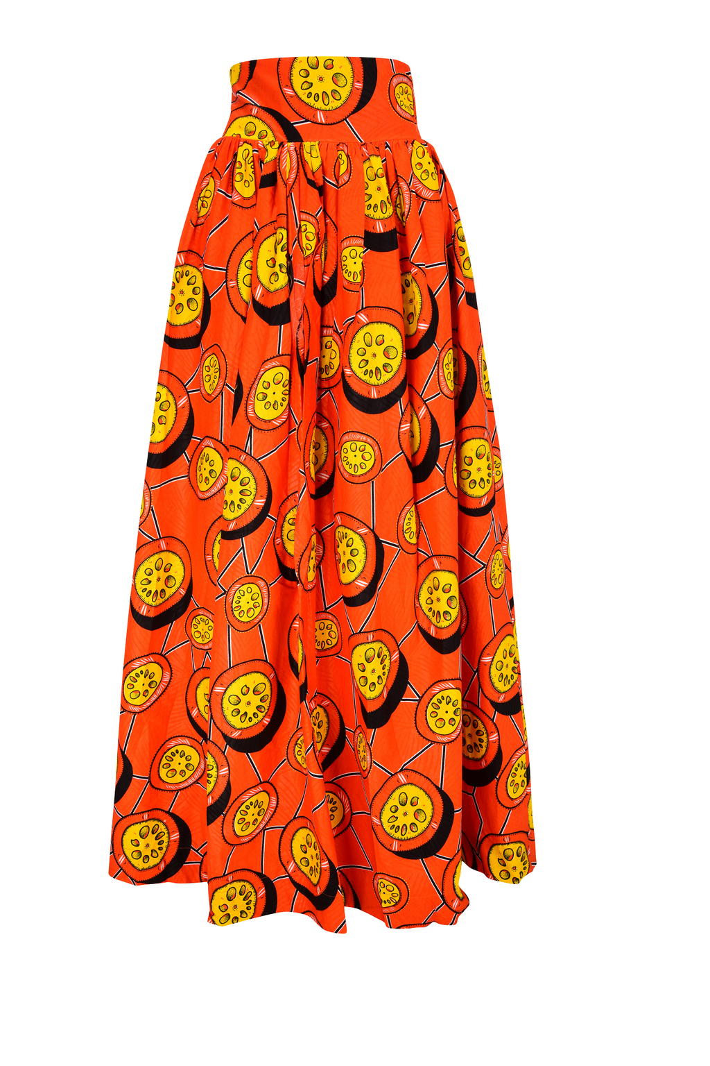 African Obassi maxi skirt for women.