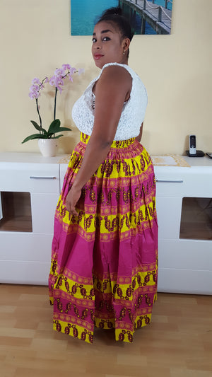 African Osoua maxi skirt for women. - yalinat
