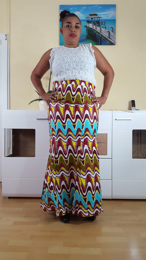 Sianou African Print maxi Skirts for Women - yalinat