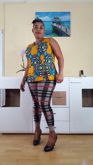 african Doga print top for ladies. - yalinat
