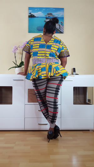 african  Pakoo  print top for ladies. - yalinat