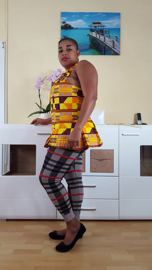 kente african Seumen  top for ladies. - yalinat
