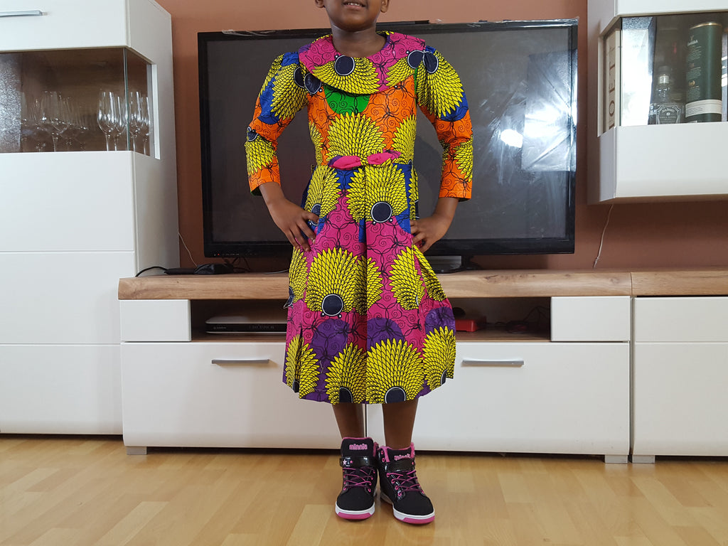 african SK07 Dress for Girl, girl ankara dress, girl african dress. - yalinat