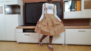 african SK02 skirt with braces for girls. - yalinat