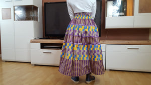 African print BATA skirts for girls - yalinat