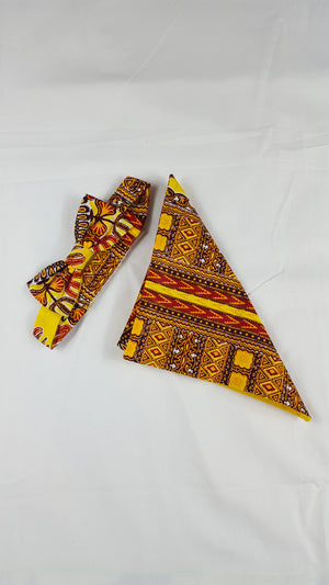 Dani Dashiki unisex bow tie with a pouch - yalinat