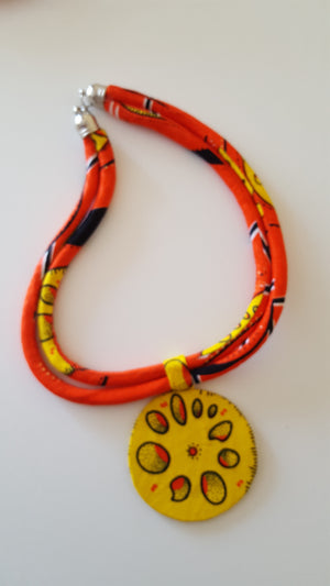 african NL09 print necklace for ladies. - yalinat
