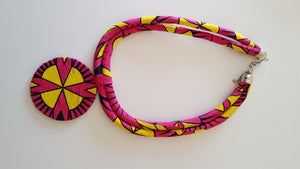 african NL08 print necklace for ladies - yalinat