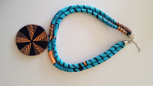 african NL06 print necklace for ladies. - yalinat