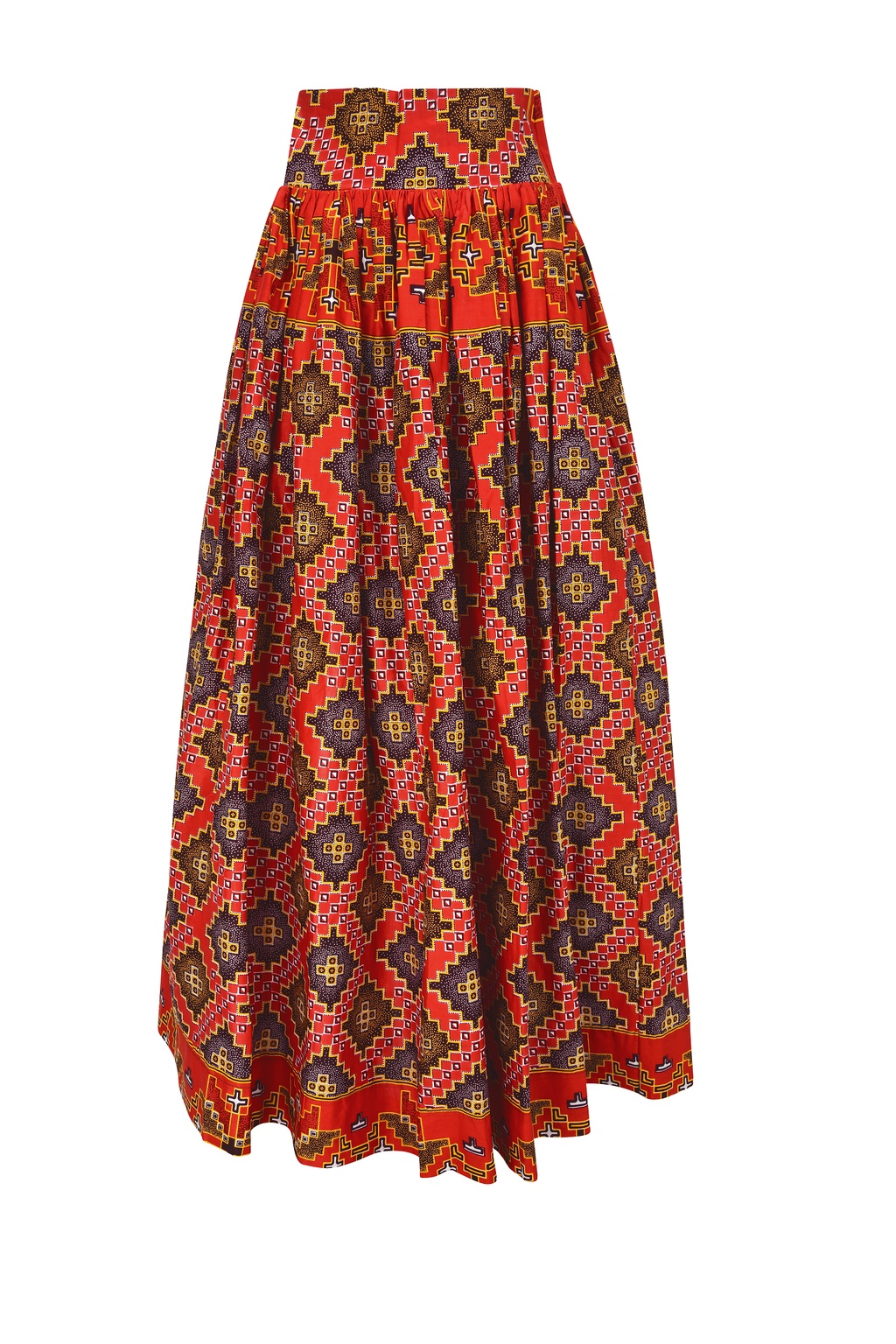 African Kobou maxi skirt for women.