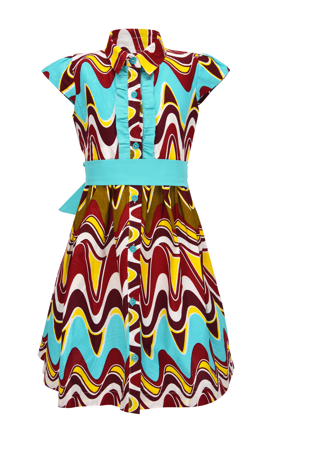 Sianou african Print dress for girls - yalinat
