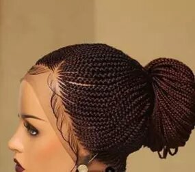 Full lace braided cornrow wig. BR-00050-L - yalinat