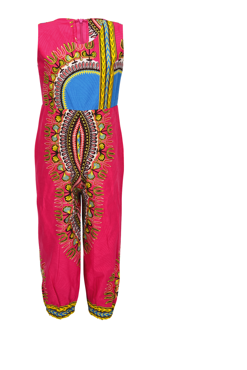 Owu Dashiki jumpsuit for girls - yalinat