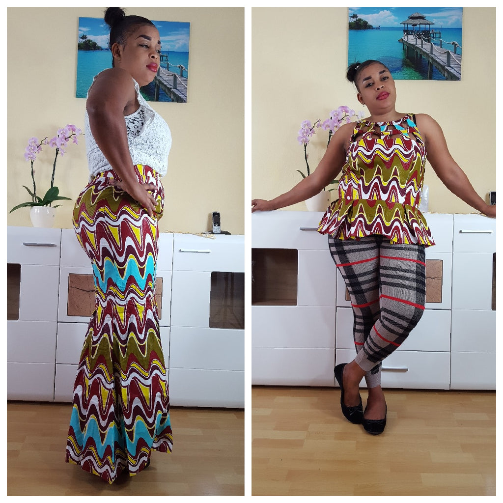 African Sianou maxi skirt for women, Ankara maxiskirt, handmade skirts, african fashion. - yalinat