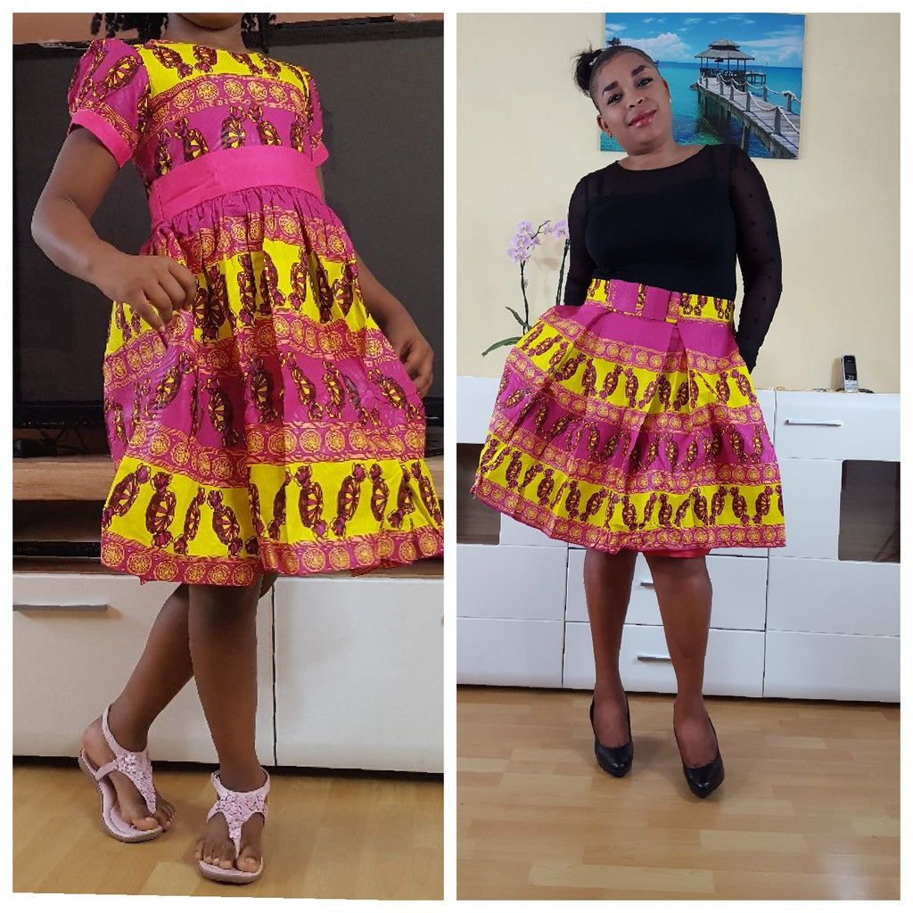 african Osoua Dress for Girl, girl ankara dress, girl african dress. - yalinat