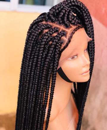 Braided wig/ Full Lace wig/ Braids/. BR-00034-L - yalinat
