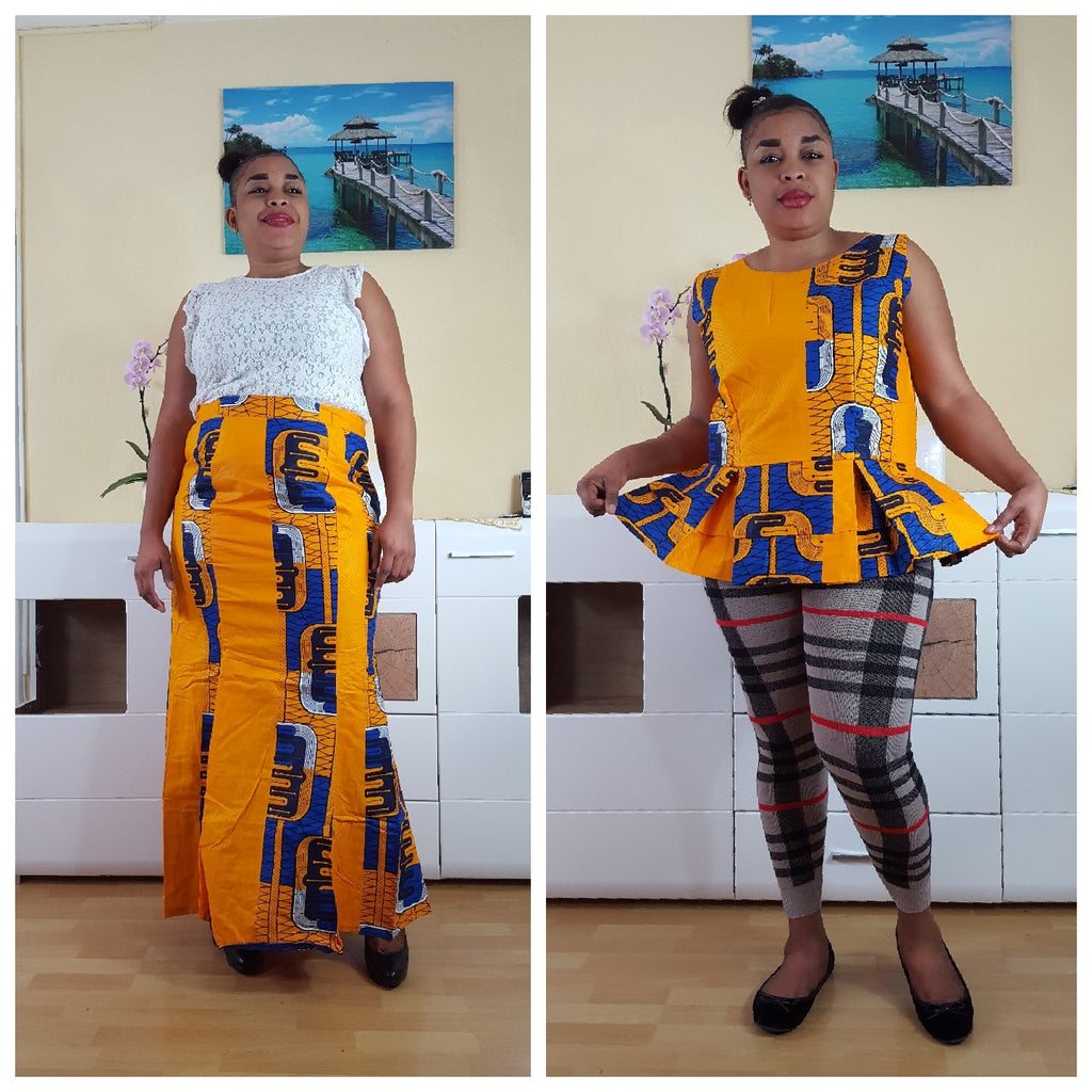 african Lakam print top, african top, dashiki top, african dress - yalinat