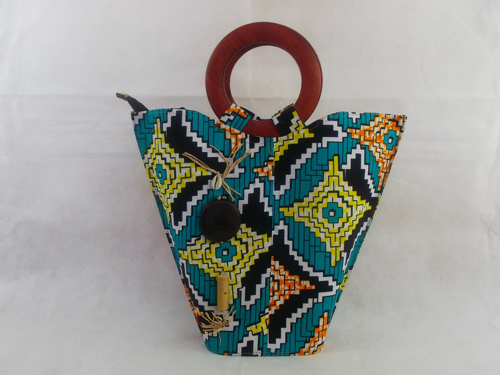 african print HB05 handbag for ladies. - yalinat