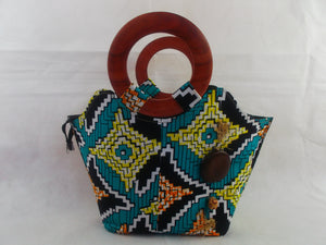 african print HB02 handbag for ladies. - yalinat