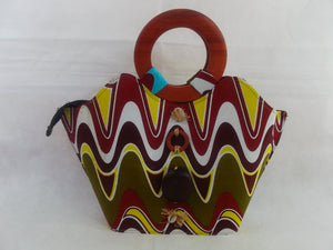 HB10 African Basket with wooden handle| african bags| African basket| - yalinat