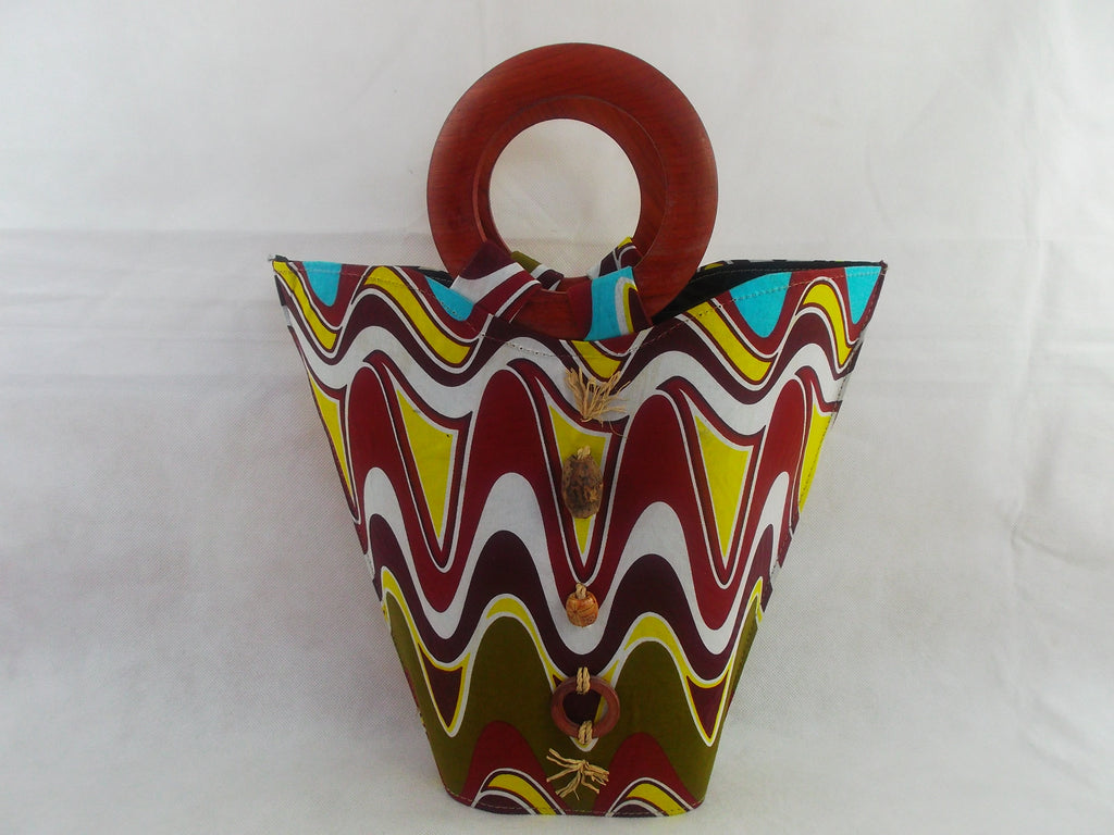 african print HB12 handbag for ladies. - yalinat