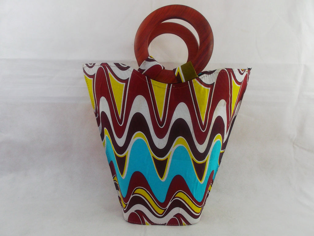 HB12 African Basket with wooden handle| african bags| African basket| - yalinat