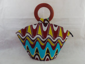HB13 African Basket with wooden handle| african bags| African basket| - yalinat