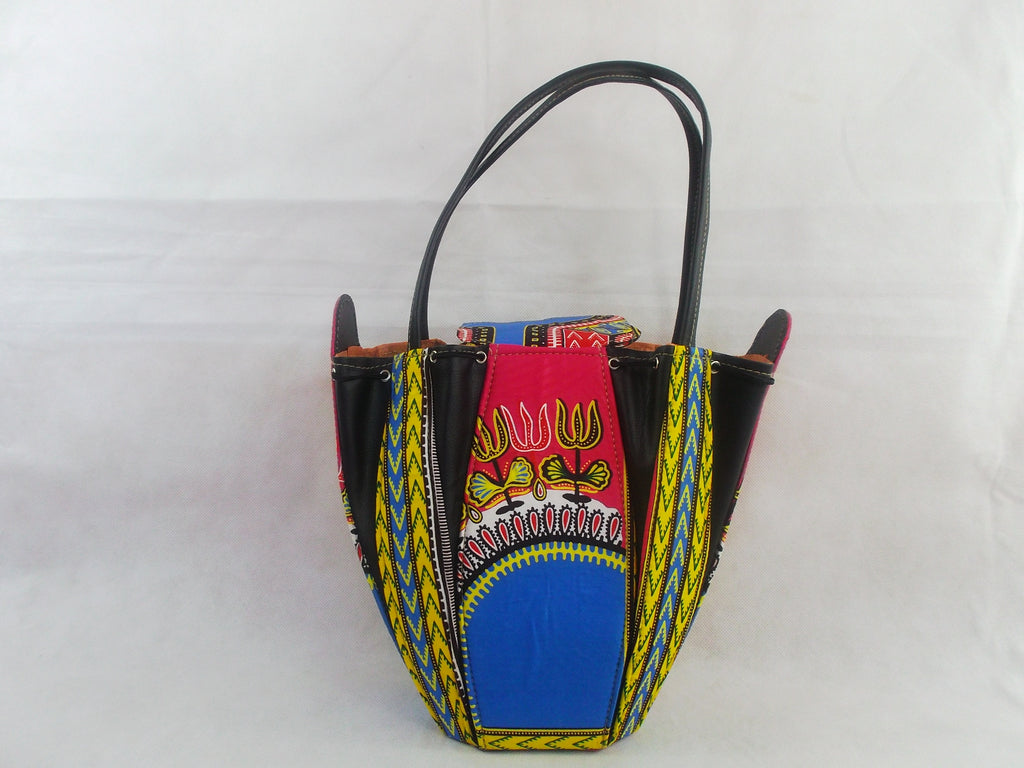 Dashiki print HB15 handbag for ladies. - yalinat