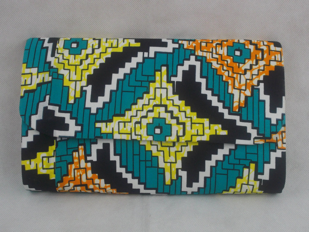 African print Appo  wallet. - yalinat