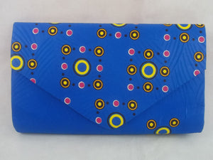 African print Boussi wallet. - yalinat