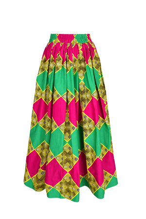 African print Marthe maxi skirt| african clothing for women|