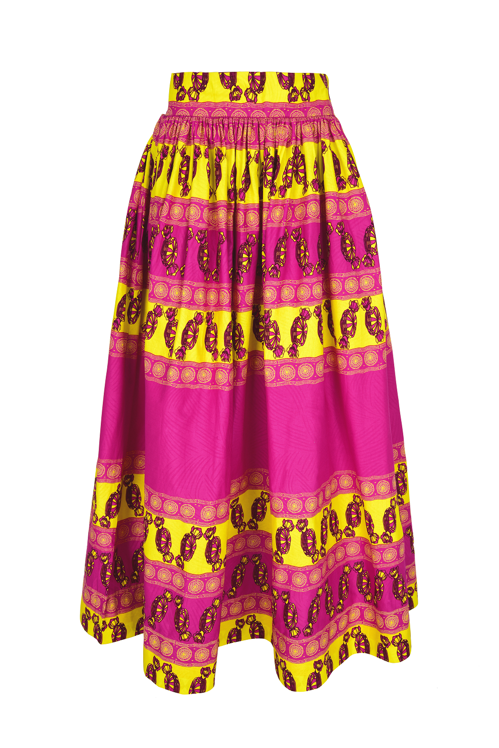 African Osoua maxi skirt for women.
