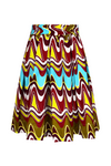 African print Sianou Midi skirt for women - yalinat