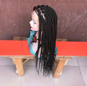 Braided Wigs | Lace Frontal Jumbo Box Braided Wigs | BraidsWig | Natural Looking Braided Wigs, BR-00060-L - yalinat
