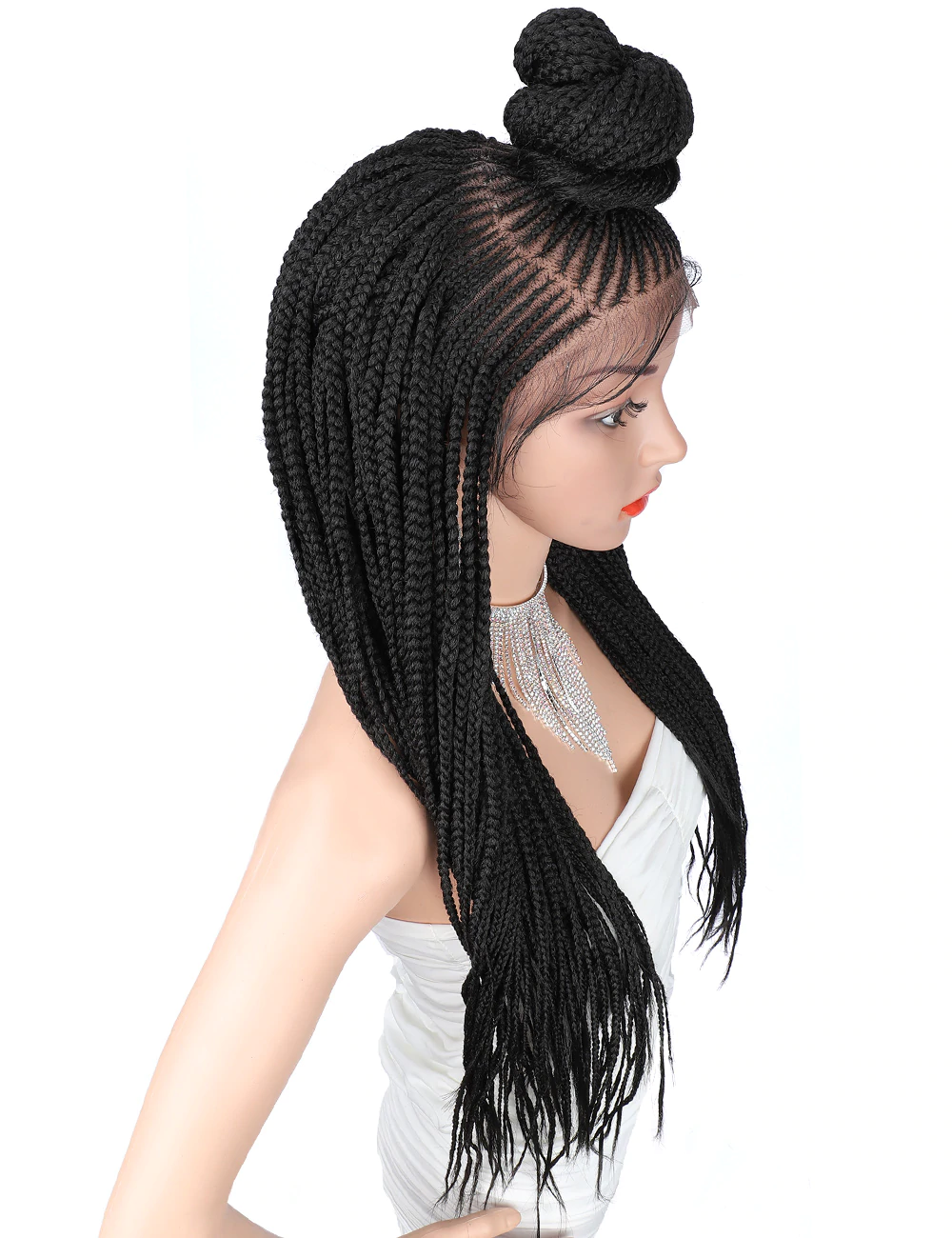 Updo 13x7 Braided Wigs | Synthetic handmade Lace Front Wig
