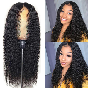 Curly Human Hair Wigs 13x4 Lace Front
