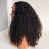 Kinky Curly 150 Density Lace closure Human Hair Wigs